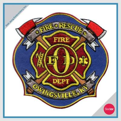 消防刺繡臂章 - FIRE RESCUE OWINGSVILLE, KY