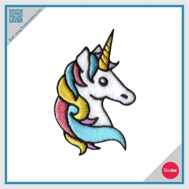 Iron on Embroidery Fancy Unicorn Patch