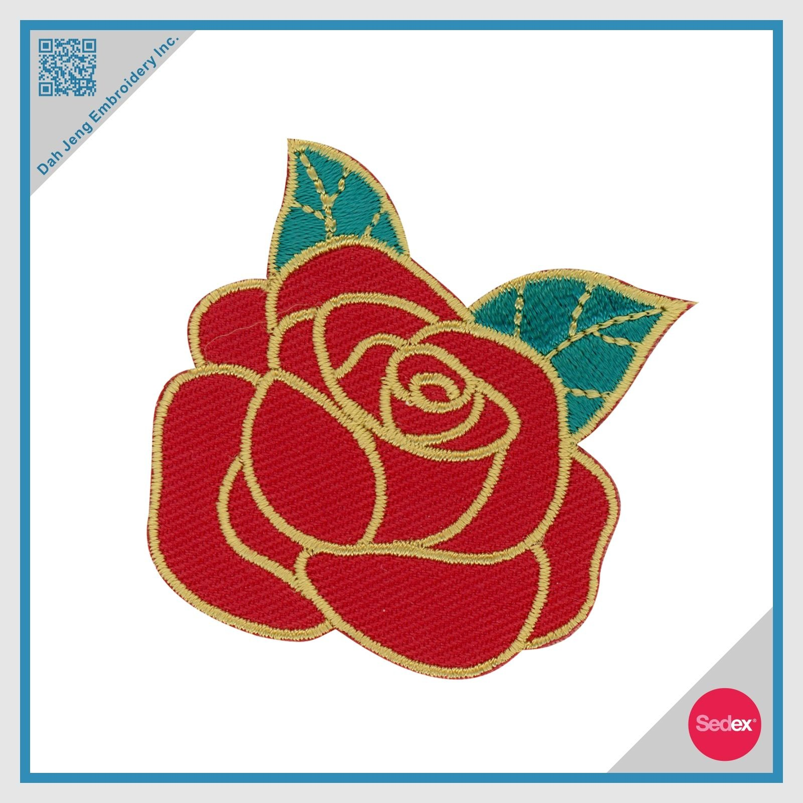 Embroidery Rose Patch