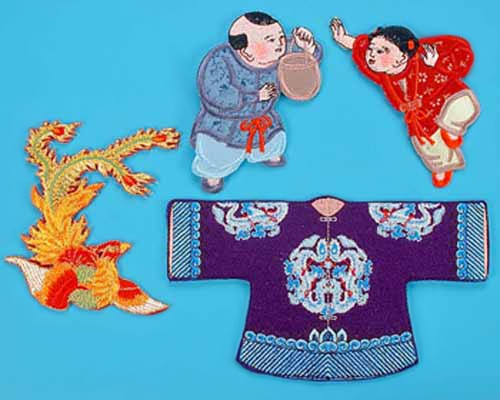 Oriental Embroidered Patches