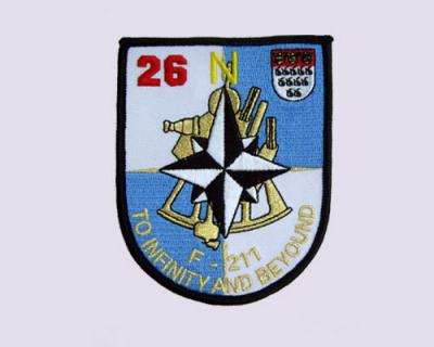 Navy Embroidered Patch