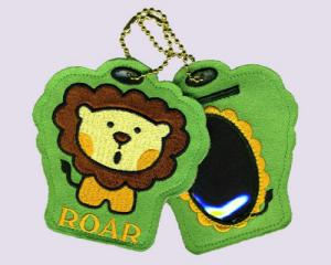Lion Embroidered Luggage Tag