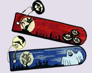 Halloween Glow In Dark Embroidered Bookmarks