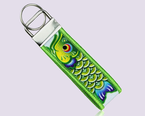 Embroidery + Sublimation Key Chain