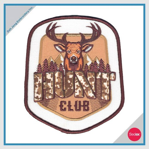3D Embroidery Patch(HUNT CLUB)