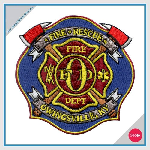 FIRE EMBROIDERY PATCH - FIRE RESCUE