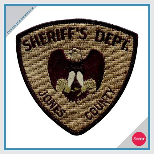 POLICE EMBROIDERY PATCH - SHERIFF'S DEPT. JONES COUNTY