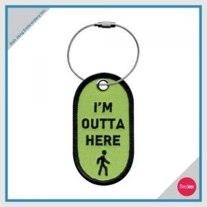 Embroidery Luggage Tag - I'M OUTTA HERE