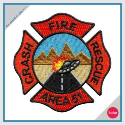 FIRE EMBROIDERY PATCH - FIRE CRASH RESCUE AREA 51