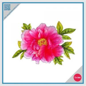 Pink Peony Patch with Sublimation