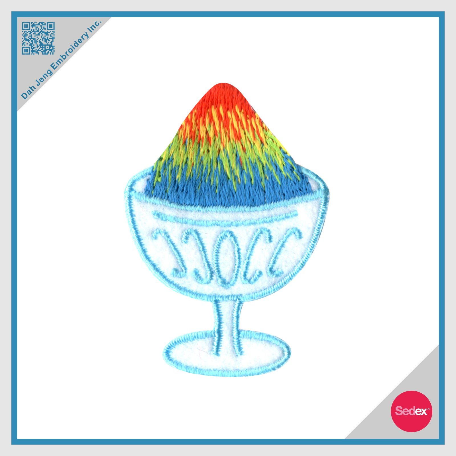 Embroidery Patch - Rainbow Shave Ice