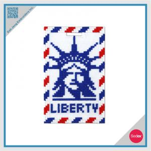 Mosaic Embroidery Luggage Tag- Liberty
