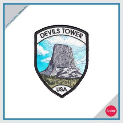 Embroidery Patch with Velcro Backing - DEVILS TOWER