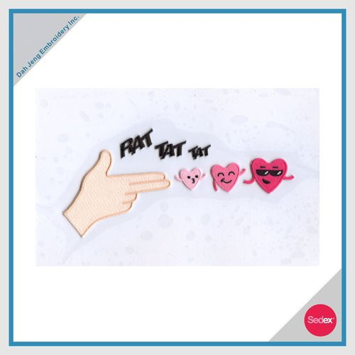 Iron-on Embroidery Sticker Set-RAT TAT TAT