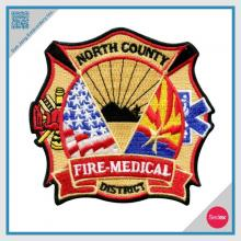 Embroidery Patch Fire Fighter Patch - Customized patch Iron on Patch