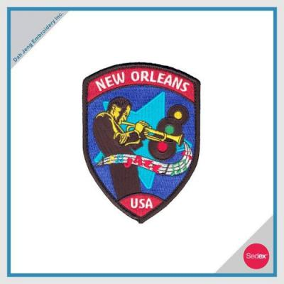 Embroidery Patch with Velcro Backing - NEW ORLEANS