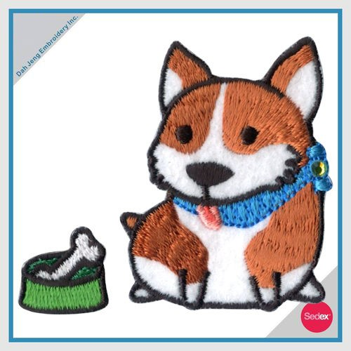 Embroidery With Rhinestone Sticker Set - Dog Chihuahua With Yarn