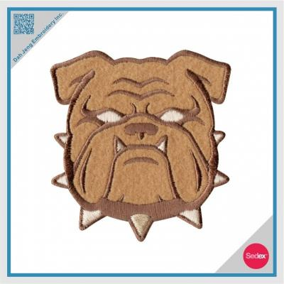 Embroidery Bulldog Patch